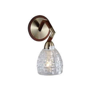 Бра N-Light 412-01-51ABW antique brass + walnut